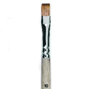 Купить Кисть синтетика мангуст имитация №16 плоская Живописные кисти 1T24 короткая ручка, Россия