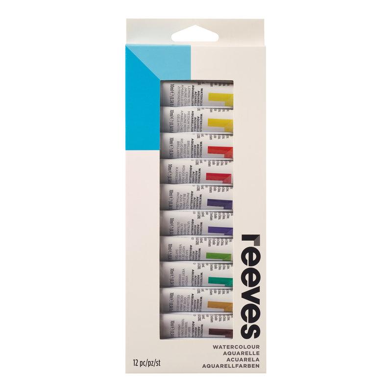 Купить Набор акварельных красок Reeves в тубах 10 мл*12 цв, в картонной упаковке