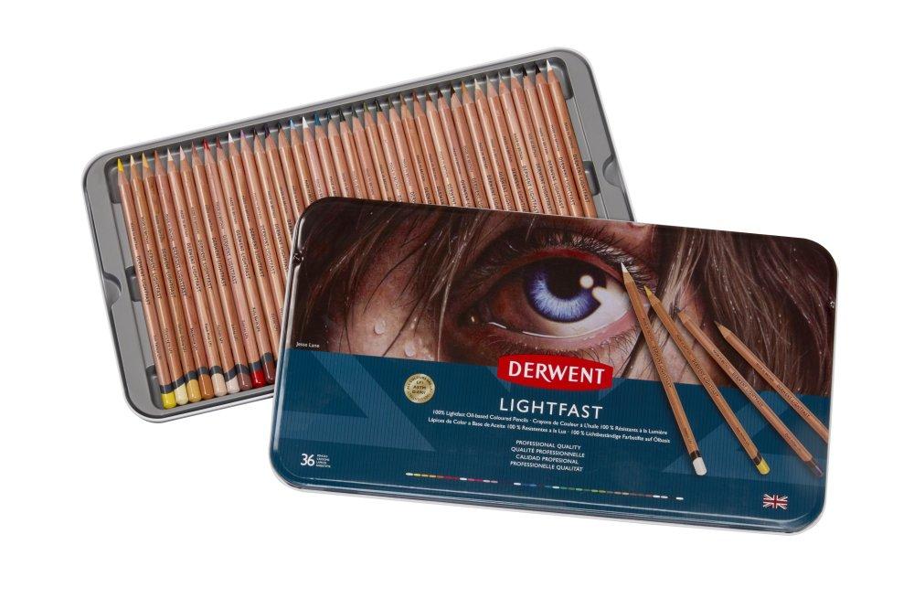 Купить Набор карандашей цветных Derwent Lightfast 36 шт в метал кор
