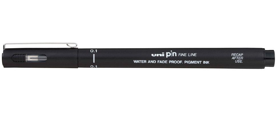 Купить Линер UNI PIN01-200 (S) 0, 1 мм, черный, Япония