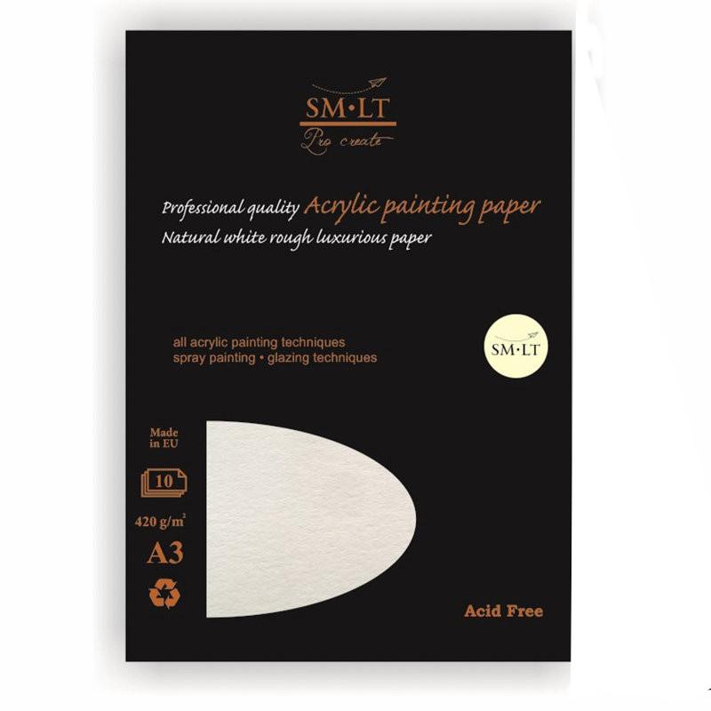 Купить Альбом-склейка для акрила Smiltainis Acrylic painting paper А3 10 л 420 г, Литва