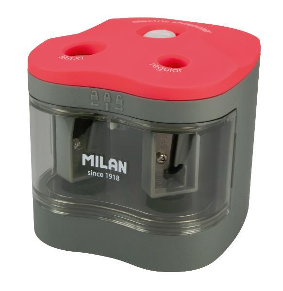 Купить Точилка MILAN электрическая, 2 отверсития, с котейнером Maxi-Regular, Испания