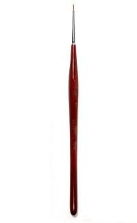 Купить Кисть колонок №00 круглая Живописные кисти 101F фигурная короткая ручка, Россия