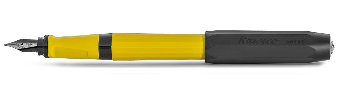Купить Ручка перьевая Kaweco PERKEO Indian Summer M 0, 9 мм, корпус желтый с черными вставками, Германия