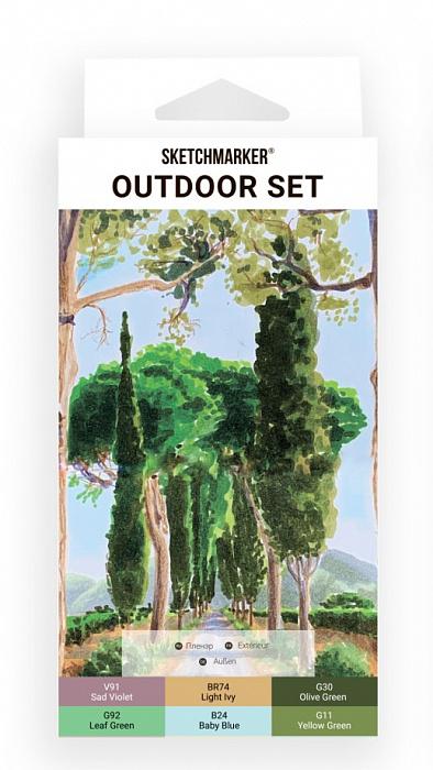 Купить Набор маркеров Sketchmarker Outdoor 6 шт в картонной упаковке, Япония