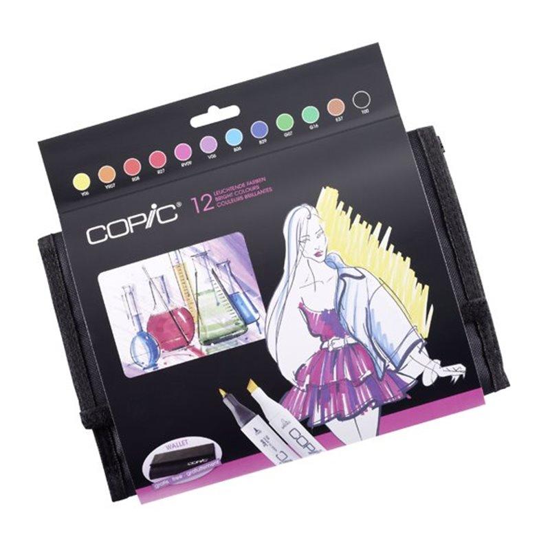 Купить Набор маркеров Copic 12 шт Яркие цвета в пенале, Copic Too (Izumiya Co Inc), Япония