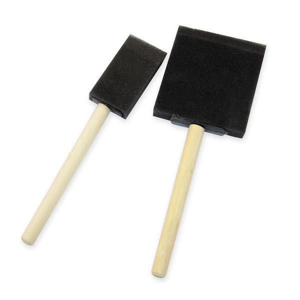 Купить Кисть-губка поролоновая 75 мм плоская деревянная ручка, Китай