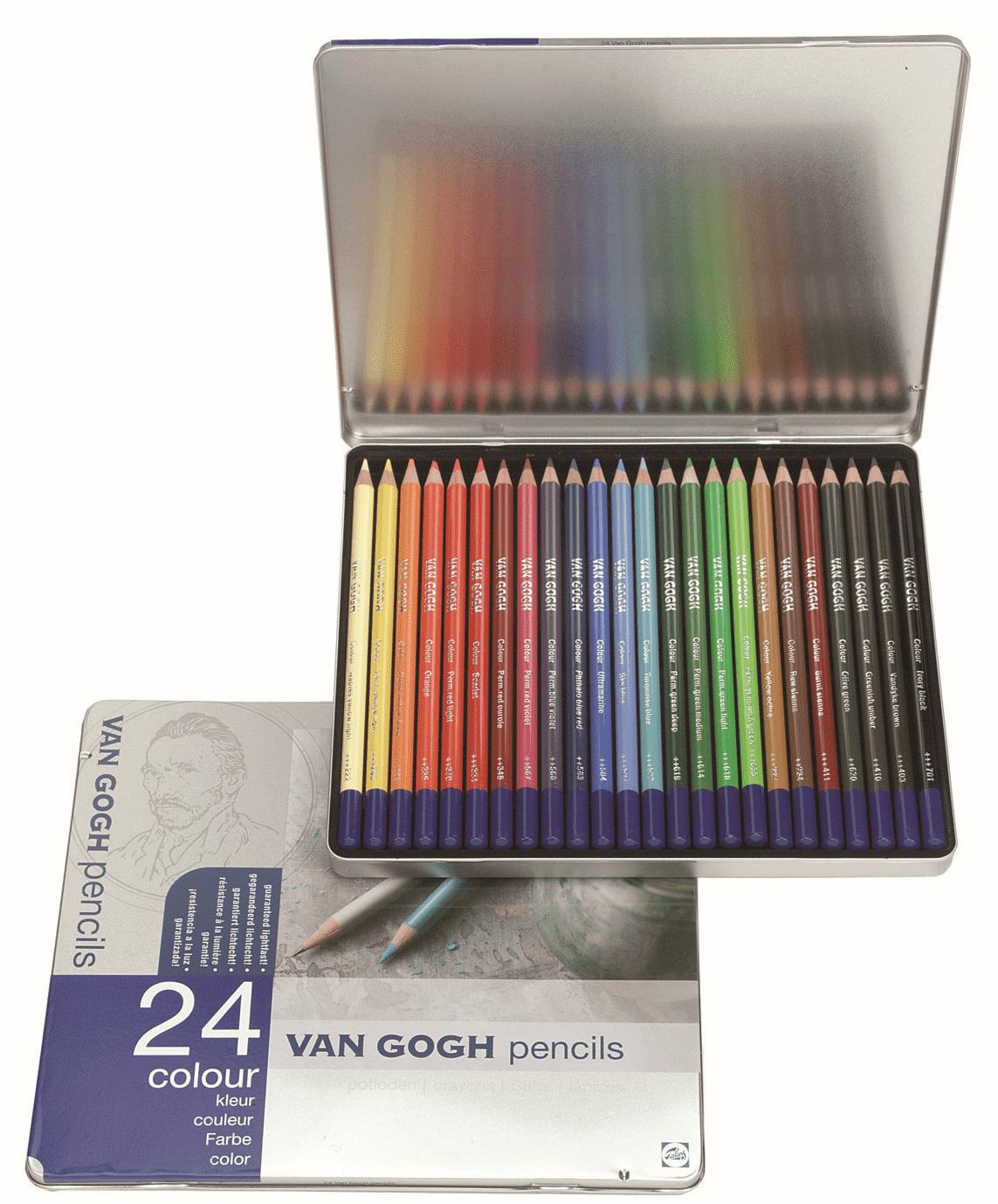 Купить Набор карандашей цветных Talens Van Gogh 24 цв, Royal Talens
