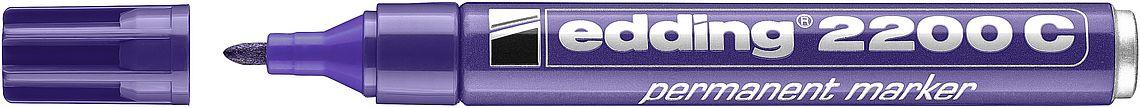 Купить Маркер перманентный Edding 2000C 1, 5-3 мм с круглым наконечником, фиолетовый, Германия