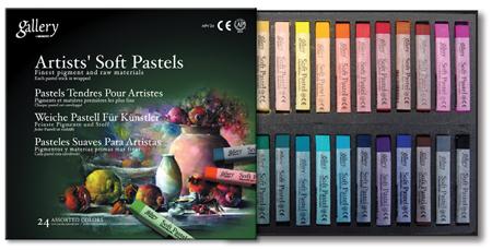 Купить Набор сухой пастели Mungyo Soft pastel 24 цв, мягкая, квадратная, в картонной коробке, Южная Корея