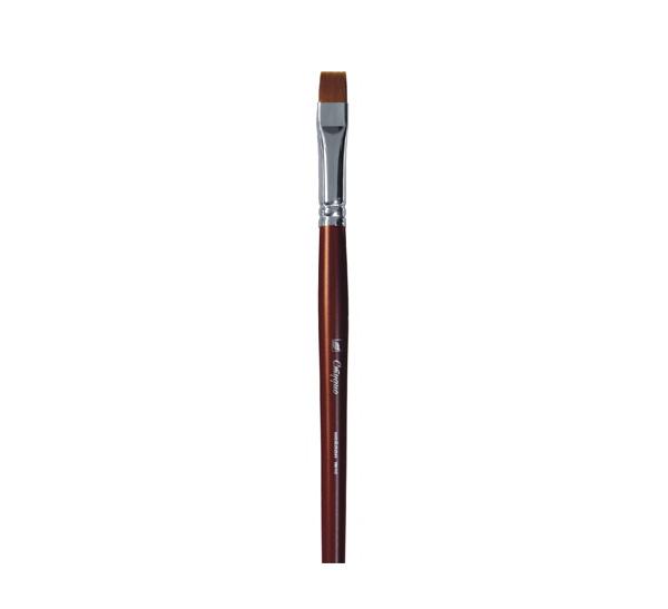 Купить Кисть синтетика №10 плоская Альбатрос Студио длинная ручка, Россия