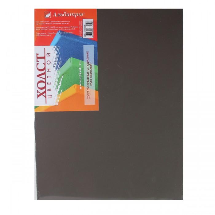 Купить Холст на подрамнике Альбатрос 30х40 см, грунт черный, хлопок 100%, Россия