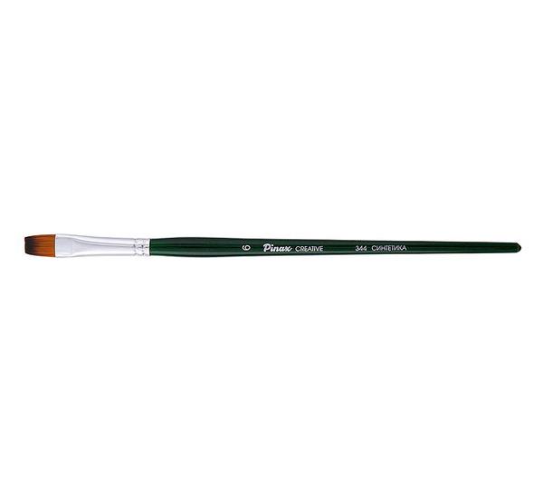 Купить Кисть синтетика №6 плоская Pinax Creative 344 короткая ручка, Китай