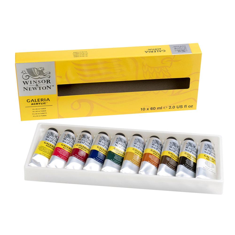 Купить Набор акрила Winsor&Newton Galeria 10 цв*60 мл, Winsor & Newton