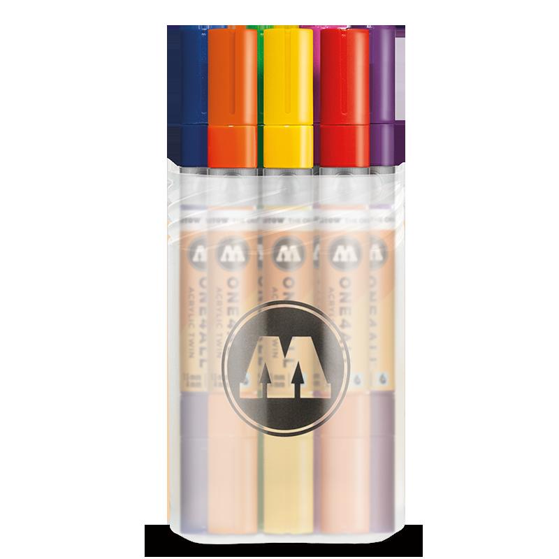 Купить Набор маркеров Molotow ONE4ALL Acrylic Twin Main-Kit 1 , 12 шт, Германия