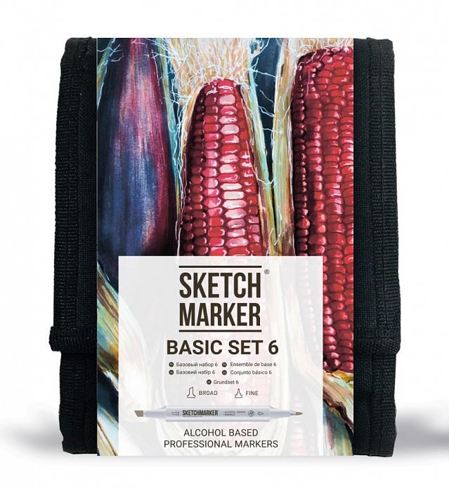 Купить Набор маркеров Sketchmarker Basic set 6 12 шт, Япония