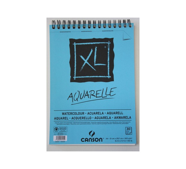 """Альбом для акварели на спирали Canson """" XL Aquarelle"""" 29,7x42 см 30 л 300 г"""