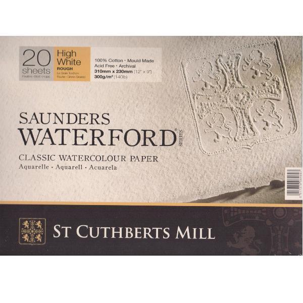Купить Альбом-склейка для акварели Saunders Waterford Rough крупное зерно 31х23 см 20 л 300 г белоснежный, St Cuthberts Mill, Великобритания