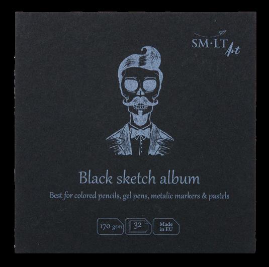 Купить Альбом SM-LT Layflat Black 14х14 см 32 л 170 г, черная бумага, Smiltainis, Литва