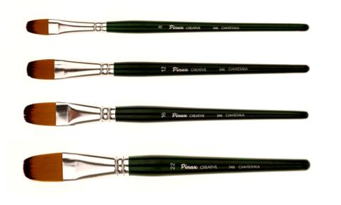 Купить Кисть синтетика №20 овальная Pinax Creative 346 короткая ручка, Китай