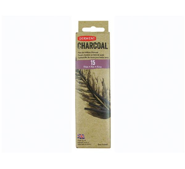Купить Набор уголь ивовый Derwent Willow Charcoal тонкий 2-3 мм 15 шт