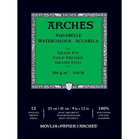 Купить Альбом склейка для акварели Canson Arches Fin 23x31 см 12 л 300 г, Франция