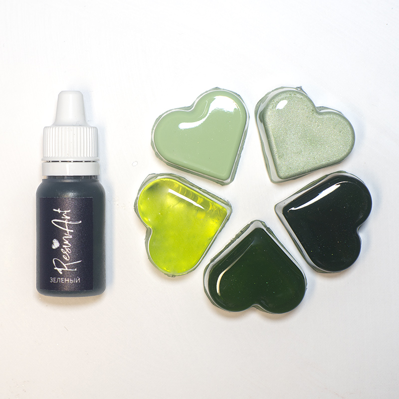 Купить Краситель для эпоксидной смолы ResinArt 10 мл зеленый, Франция