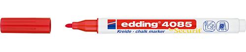 Купить Маркер меловой Edding 4085 1-2 мм с круглым наконечником, красный, Германия