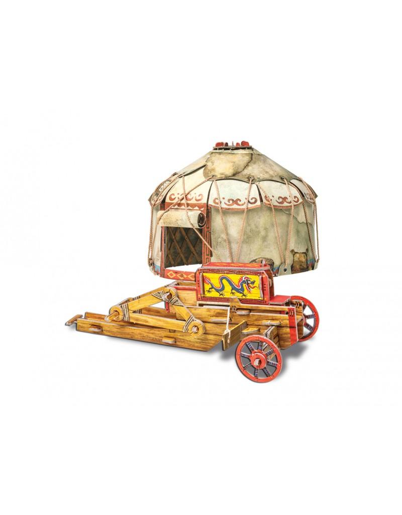 """Сборная игрушка из картона Средневековый город """"Осадный лагерь кочевников"""""""