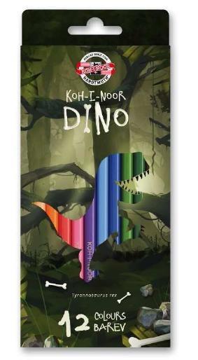 Купить Набор карандашей цветных Koh-I-Noor Динозавр 12 цветов, картон, KOH–I–NOOR, Чехия