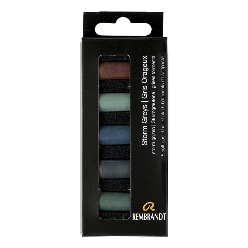 Купить Набор сухой пастели Talens Rembrandt Темно-серый 5 цв, в картонной коробке, Royal Talens