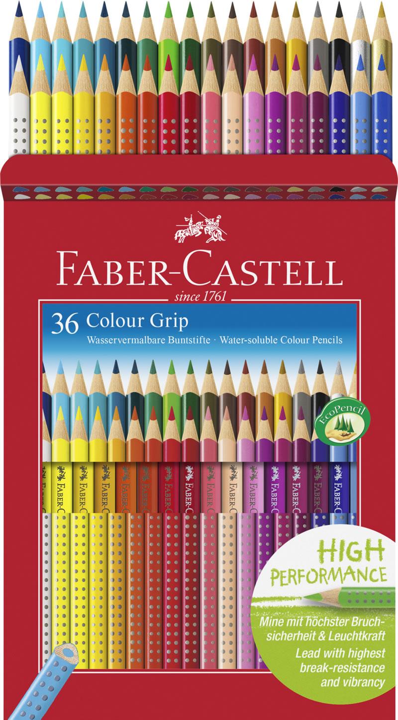 Купить Набор карандашей цветных Faber-castell Grip 2001 36 шт в подарочной картонной коробке, Faber–Сastell, Германия