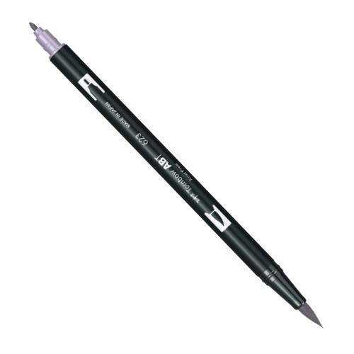 Купить Маркер-кисть двусторонний на водной основе Tombow ABT 623 фиолетовый шалфей, Япония