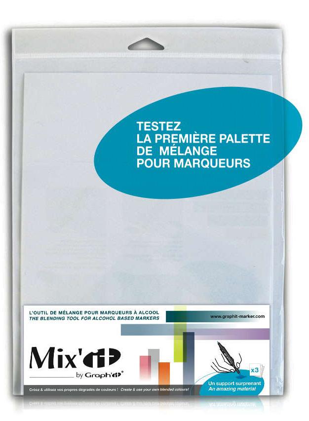 Купить Набор палитр GRAPH'IT Mix'it для смешивания цветов А5 3 шт, Китай