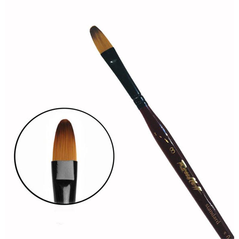 Купить Кисть синтетика №8 овальная Roubloff 06RB короткая ручка, Россия
