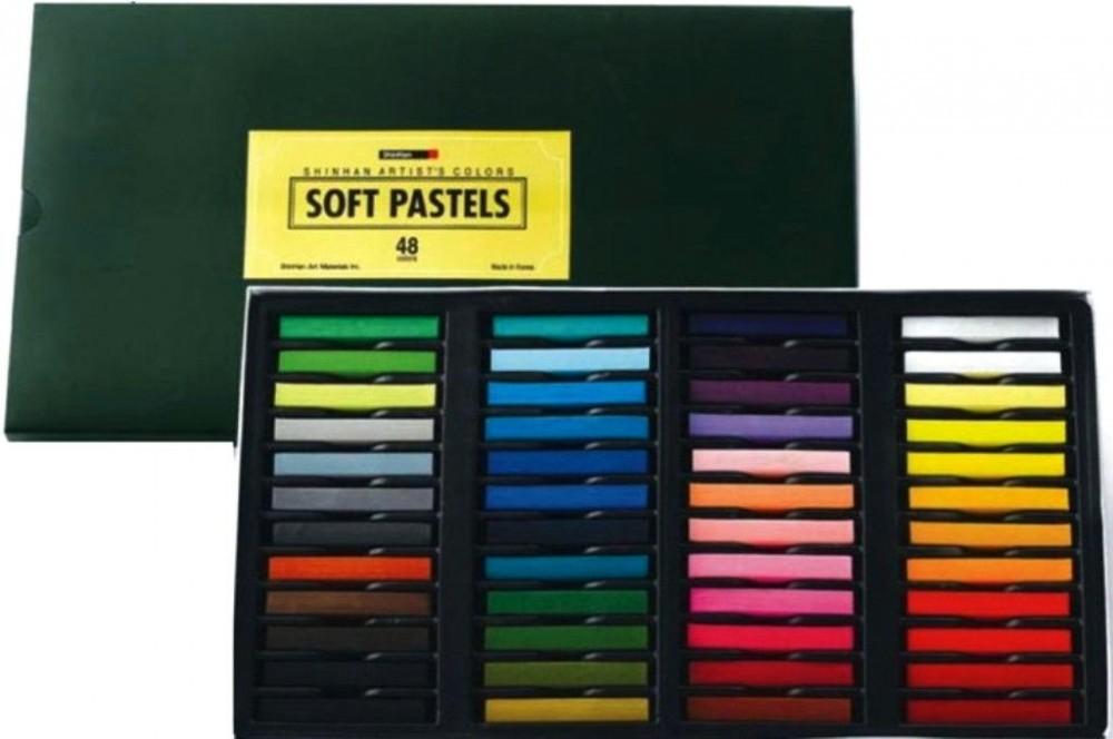 Купить Набор сухой пастели ShinHanart Soft Pastel 48 цв, в картонной упаковке, ShinHan Art International Inc., Южная Корея