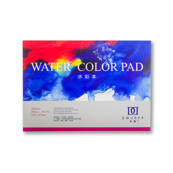Купить Альбом-склейка для акварели Potentate Watercolor Pad 21x29, 7 см 20 л 300 г, Китай