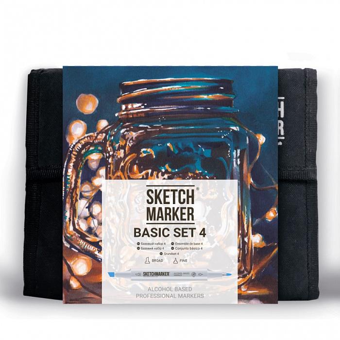 Купить Набор маркеров Sketchmarker Basic set 4 36 шт, Япония