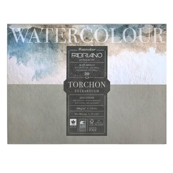 Купить Блок бумаги для акварели Fabriano Watercolour Studio Torchon 23х30 см 20 л 300 г, Италия