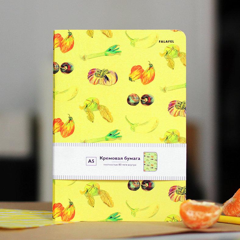 Купить Блокнот FALAFEL BOOKS А5 Vegetables, Россия