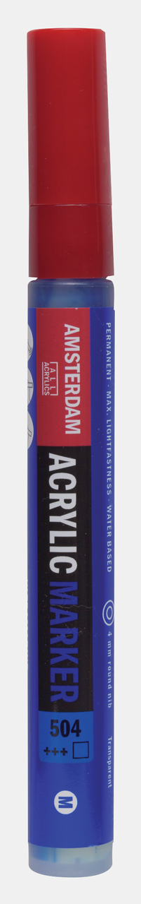 Купить Маркер акриловый Talens Amsterdam 4 мм №504 Ультрамарин, Royal Talens, Россия