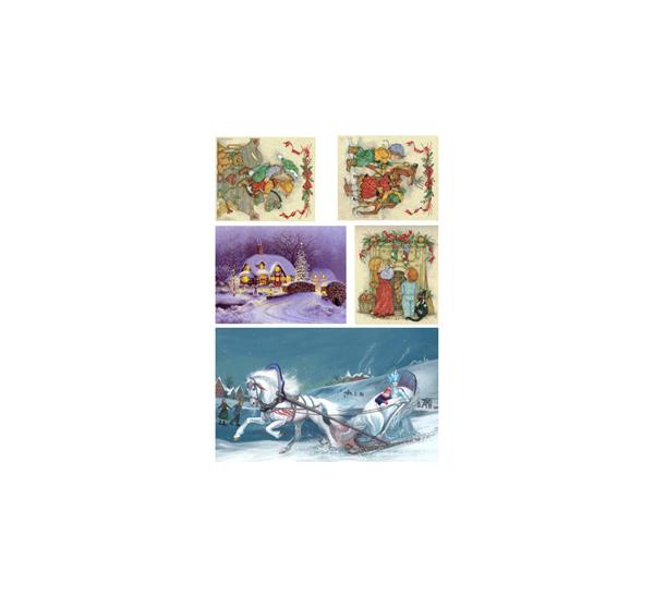 Купить Набор карт 5 шт. 21х30 см Снежная королева для декупажа, Невская Палитра, Россия