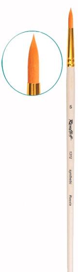 Купить Кисть синтетика №8 круглая Roubloff 1312 длинная ручка п/лак, Россия