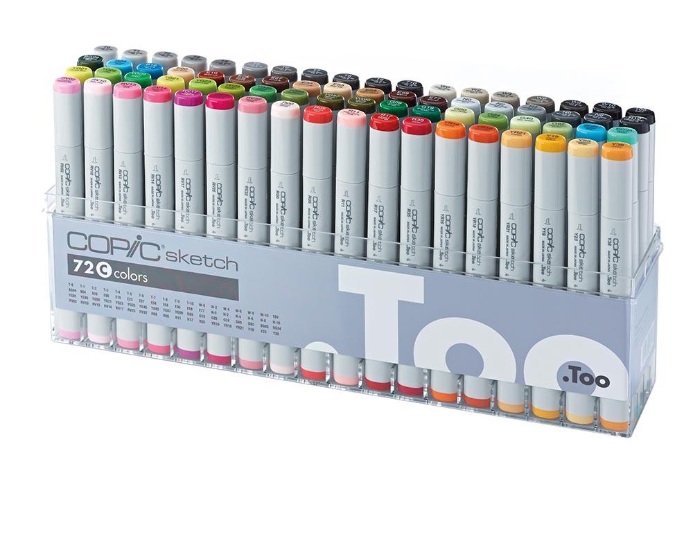 Купить Набор маркеров Copic Sketch C 72 цв, Copic Too (Izumiya Co Inc), Япония