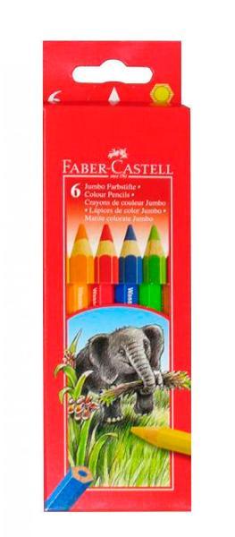 Купить Набор карандашей цветных Faber-castell Jumbo 6 шт в картоне, Faber–Сastell, Германия