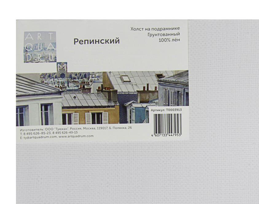Холст на подрамнике грунтованный Туюкан репинский 70x90 см фото