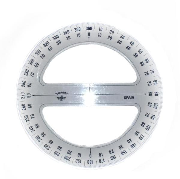 Купить Транспортир Domingo Ferrer 10 см 360 градусов, Испания