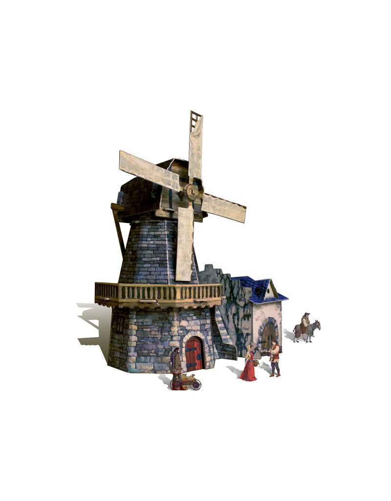 Купить Игровой набор из картона Средневековый город Мельница , Умная бумага, Россия