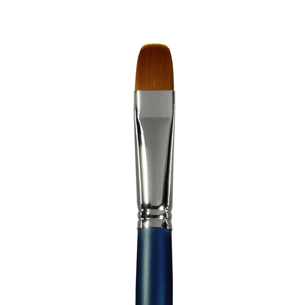 Купить Кисть синтетика №16 овальная Альбатрос Профи длинная ручка, Россия