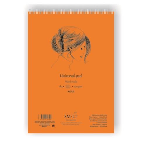 Купить Альбом для различных техник на спирали Smiltainis Universal pad А3 30 л 200 г, Литва